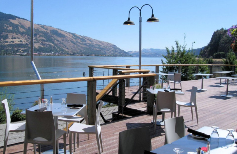 Patio View at  Hood River Inn