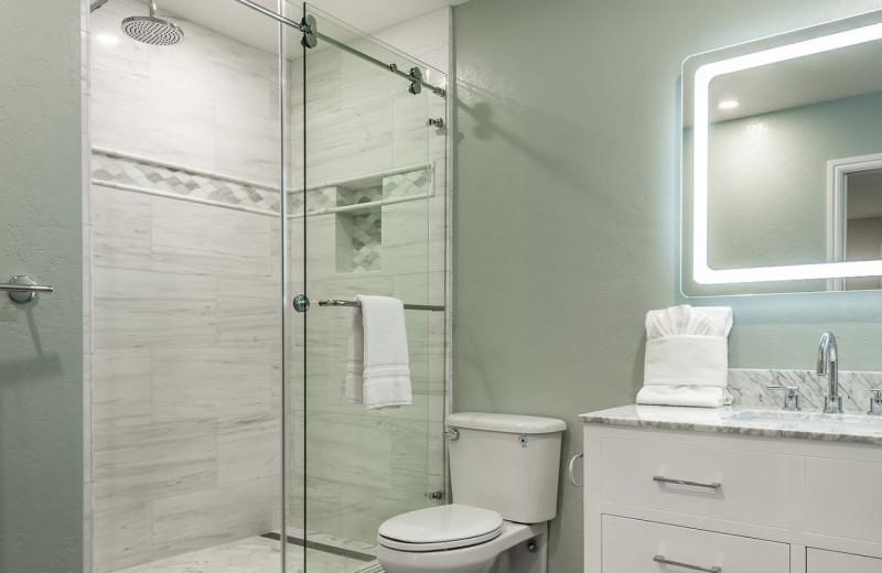 Rental bathroom at Pajaro Dunes Resort.