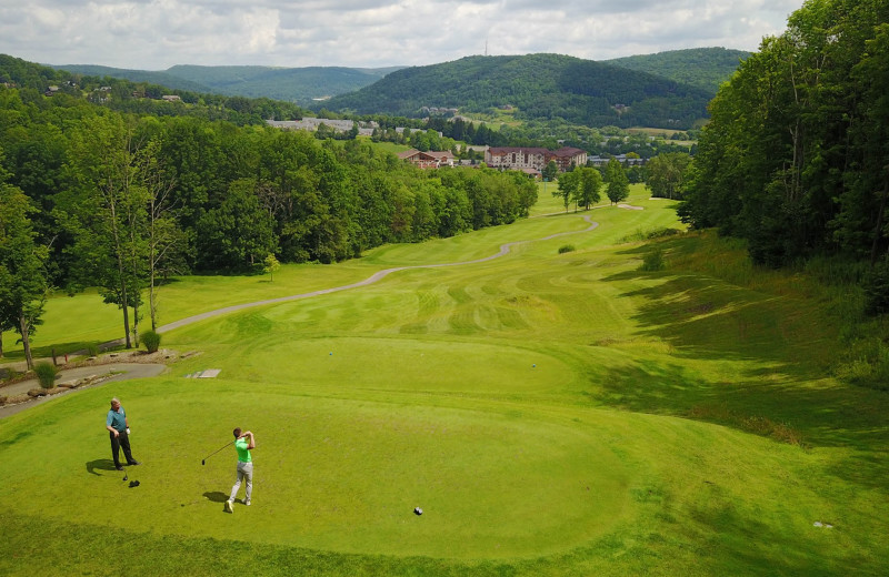 Golf course at Holiday Valley Resort.