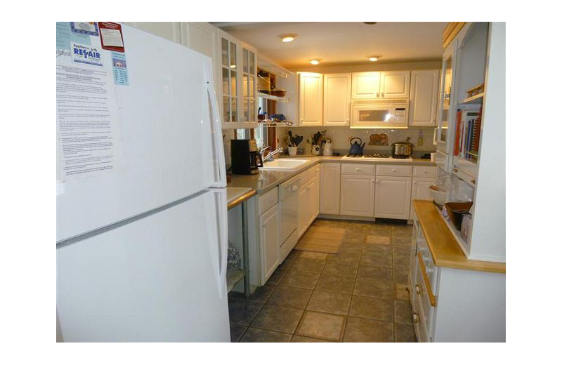 Rental kitchen At the Lakes Vacation Rentals.