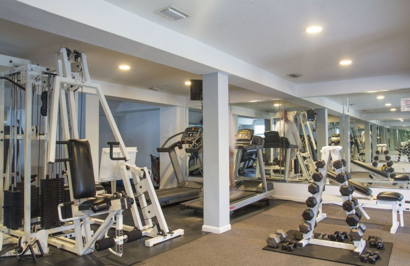 Fitness center at Palm Island Resort.