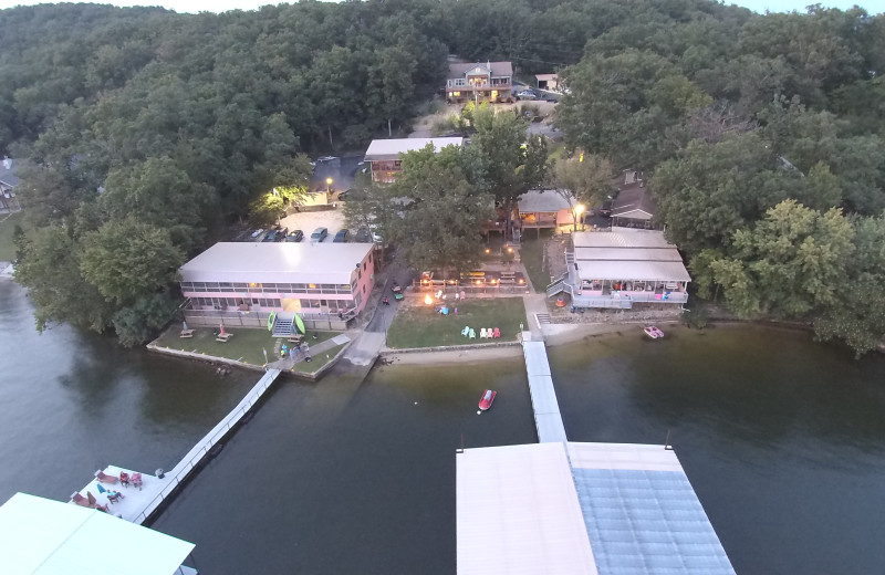 Aerial view of Kon Tiki Resort.