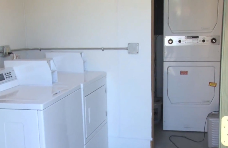 Laundry facilities at Zippel Bay Resort.