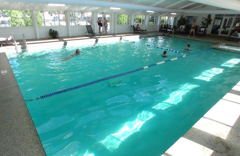 Indoor pool at Eastern Slope Inn Resort.