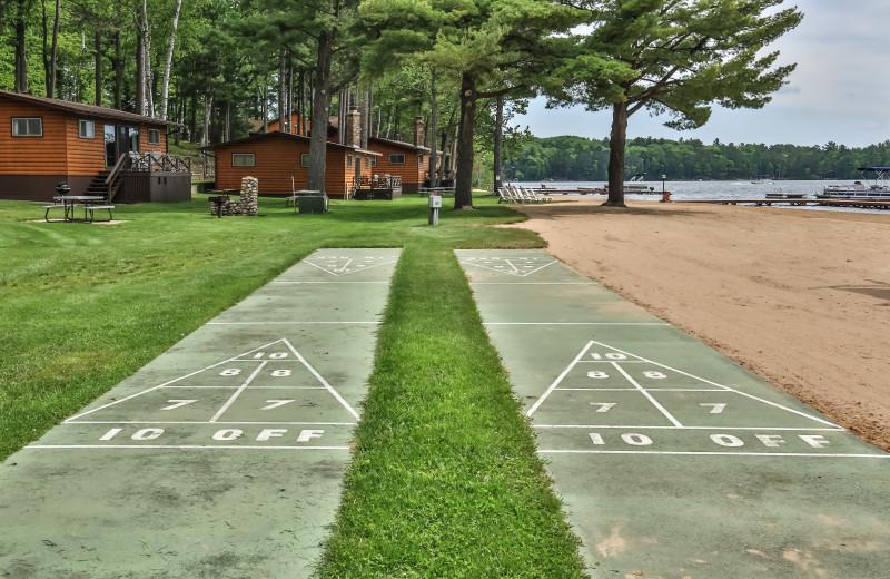 Shuffleboard at Serenity Bay Resort.