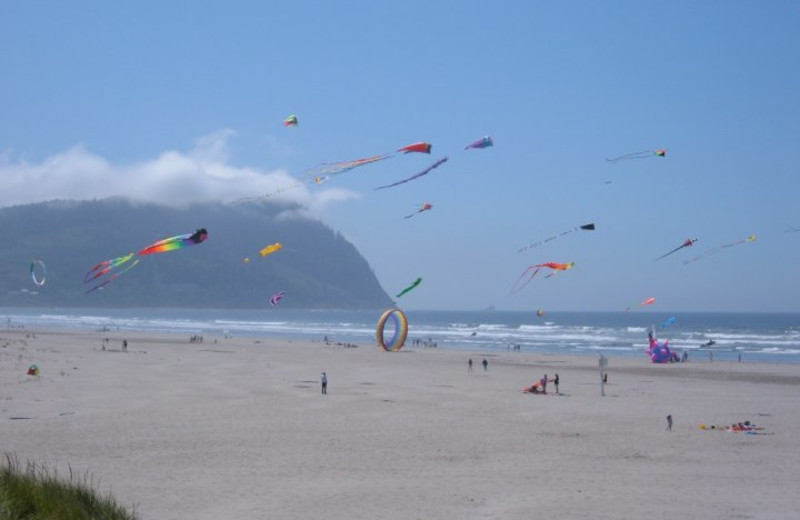 Beach fun at Sand & Sea Condominums.