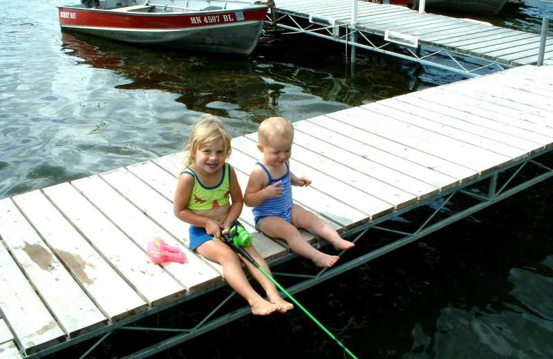 Fishing at Sunset Bay Resort.