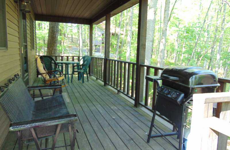Cabin porch at Cabins at Dale Hollow.