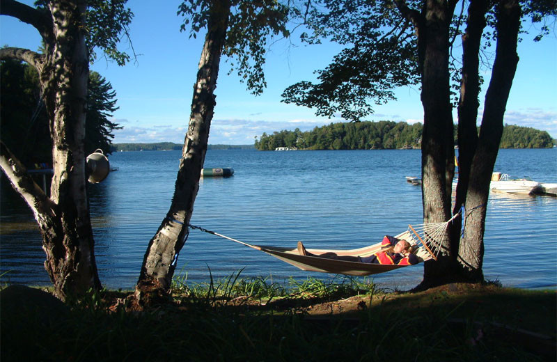 Relax by the lake at Shamrock Lodge.