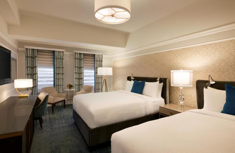 Guest room at The Fairmont Empress.