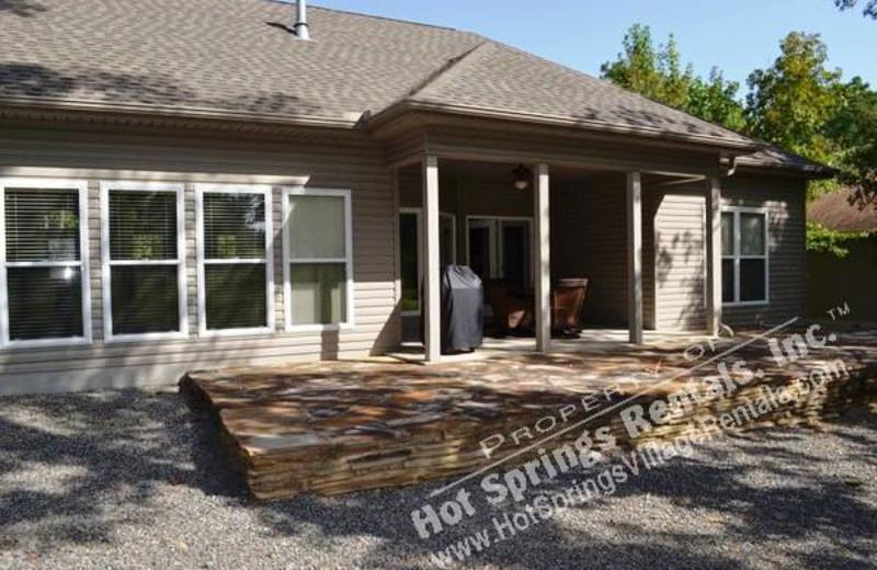 Rental exterior at Hot Springs Village Rentals.