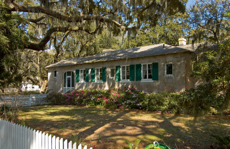Cottage exterior at Lodge on Little St. Simons Island.