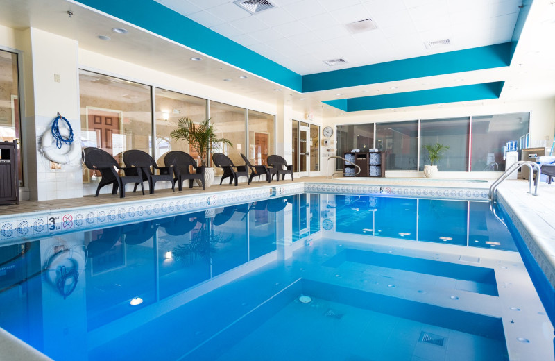 Indoor pool at Hilton Garden Inn Outer Banks/Kitty Hawk.