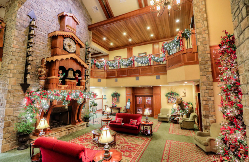 Lobby at The Inn at Christmas Place.