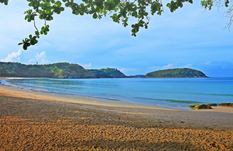 The beach at The Nai Harn.