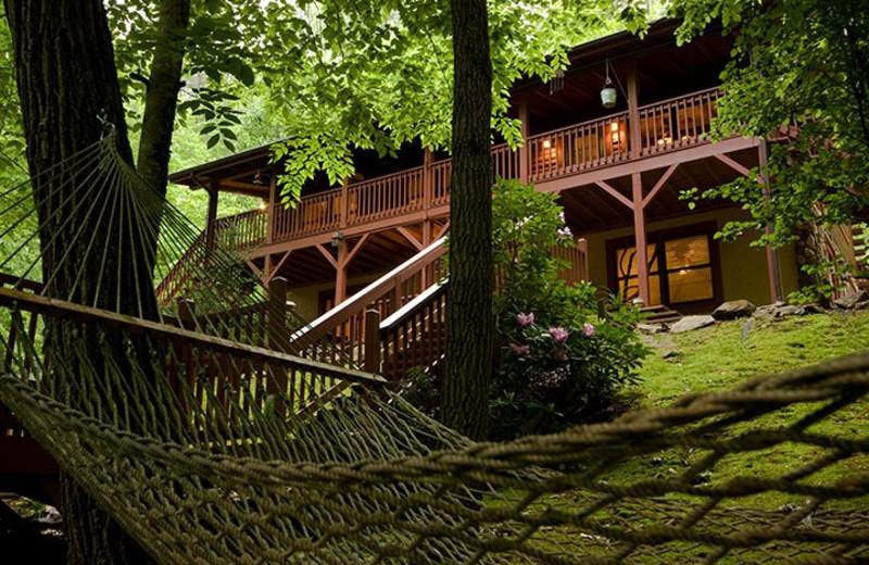 Cabin exterior at Smoky Mountain Getaways.