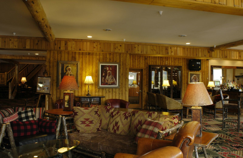 Guest lounge at St. Mary Lodge & Resort.