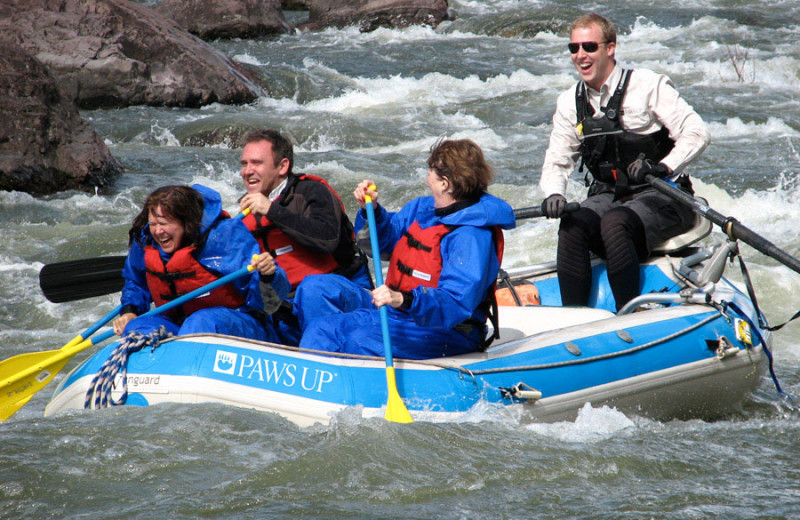 River rapids at The Resort at Paws Up.