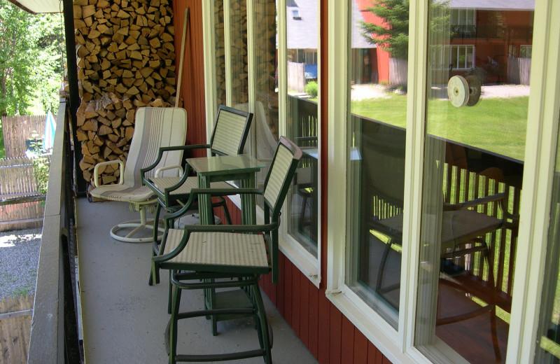 Vacation rental balcony at Village Condominium.