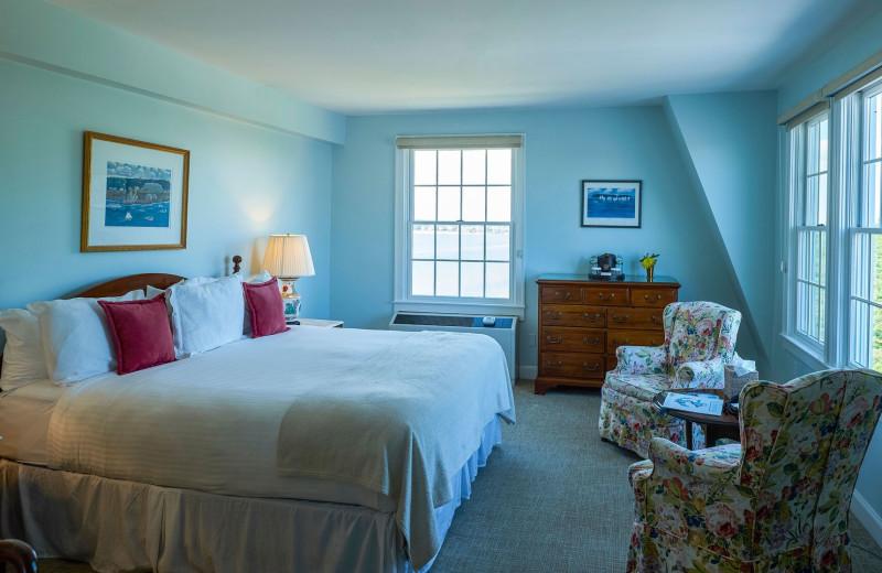 Guest room at Black Point Inn.