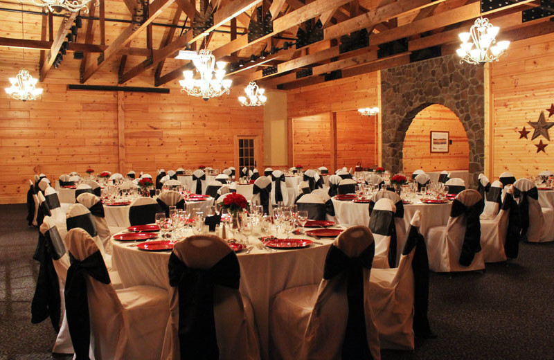 Wedding reception at House Mountain Inn.