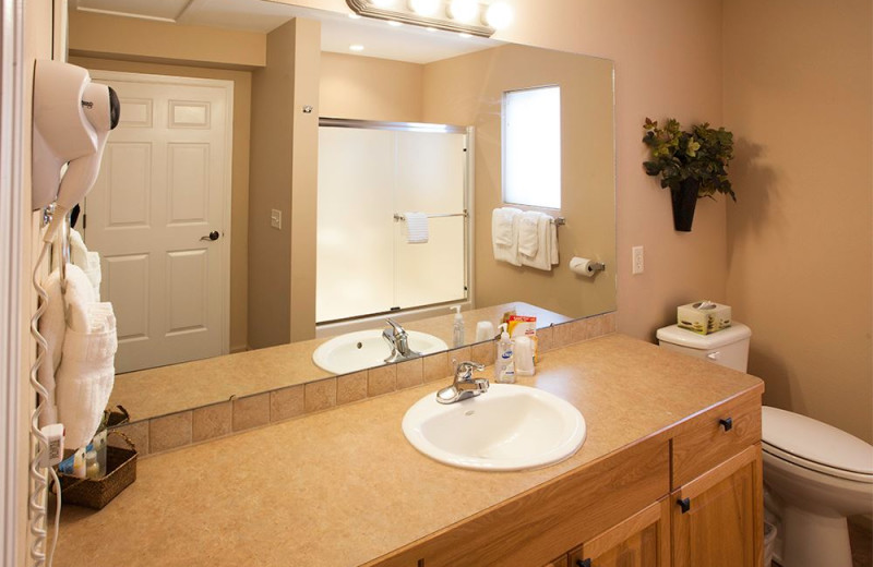 Guest bathroom at Beaver Brook on the River.