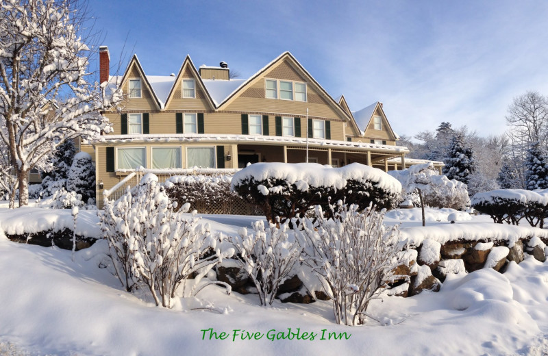 Winter at Five Gables Inn.