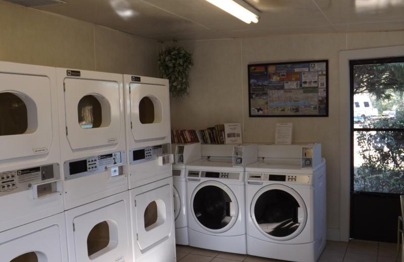 Laundry facilities at Navarre Beach Campground.