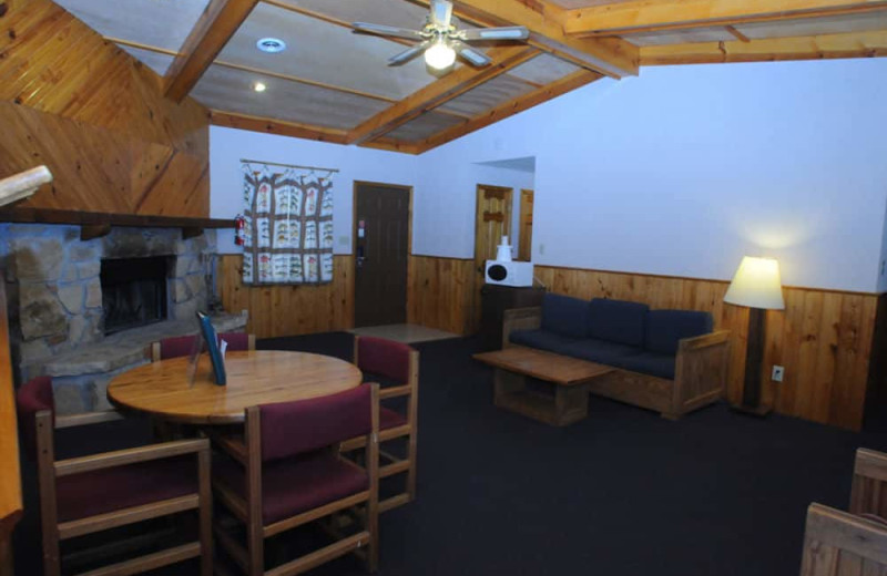 Guest lounge at YMCA Trout Lodge & Camp Lakewood.