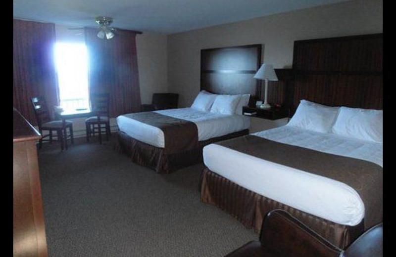 Hotel bedroom at Surfrider Resort.