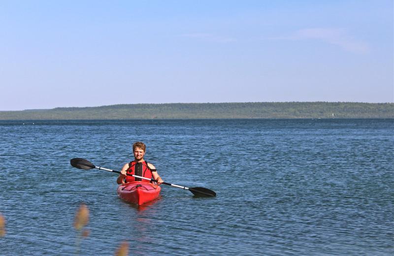 Kayaking at Black Rock Resort.