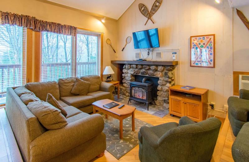 Guest living room at Attitash Mountain Village Resort.