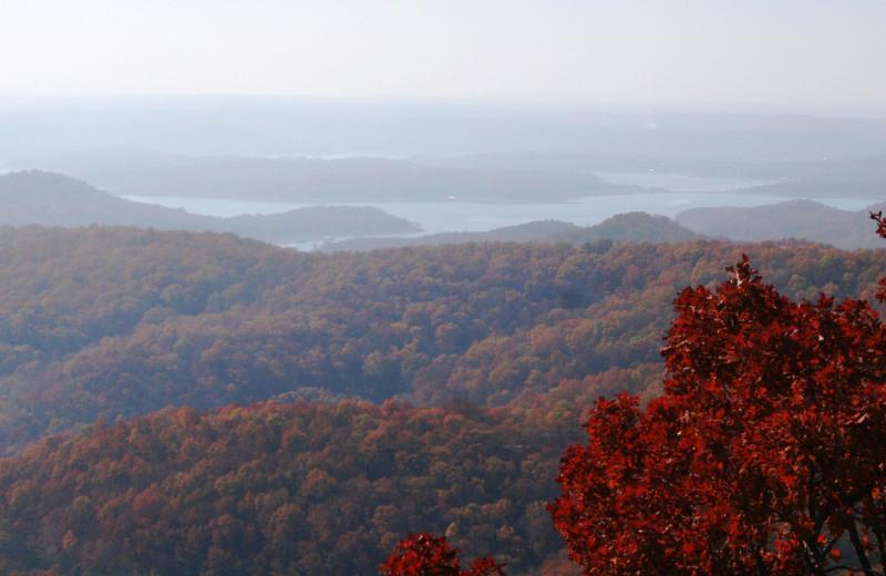 Mountain view at Whitney Mountain Lodge.