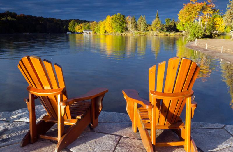 Lake view at Deerhurst Resort.