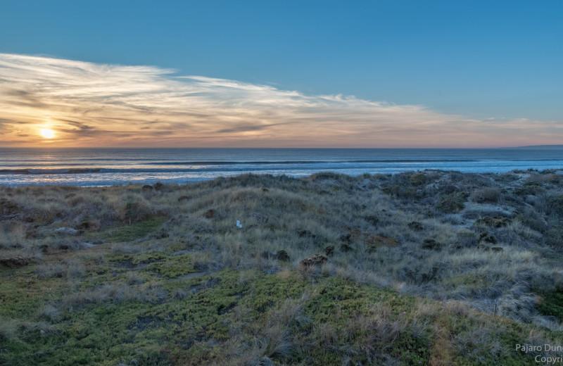 Beach view at Pajaro Dunes Resort.