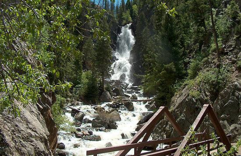 Waterfall at Steamboat Lodging Properties.