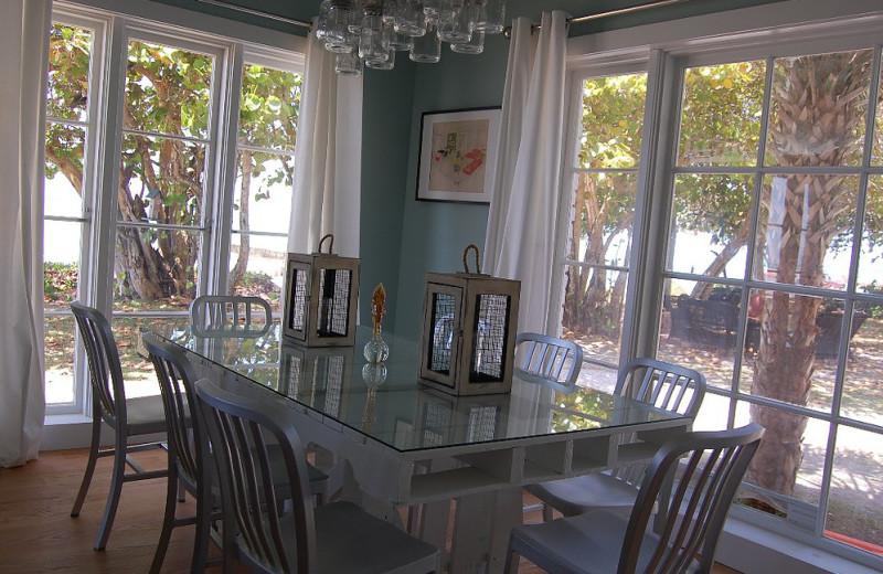 Rental dinning room at Sunset Beach Resort.