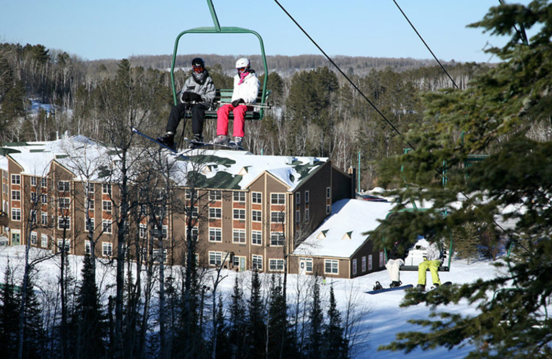Ski lift at Giants Ridge Golf and Ski Resort.