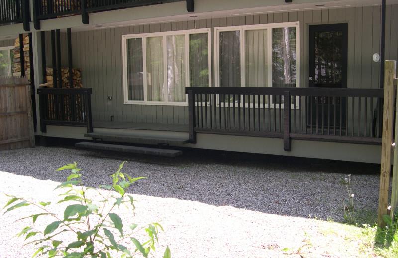 Porch view at Village Condominium.