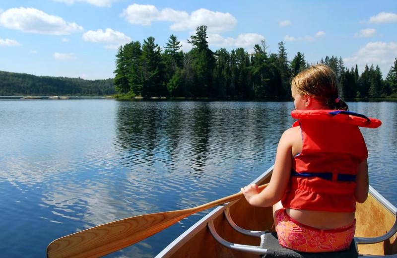 Canoeing at Deerstalker Resort.