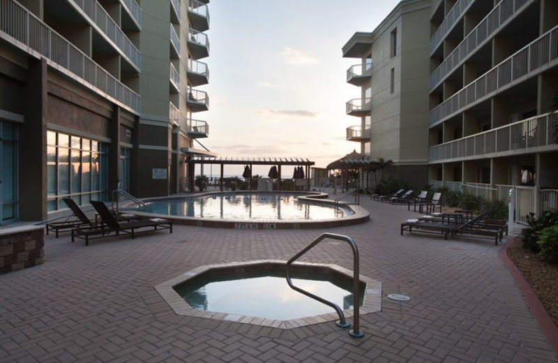 Outdoor pool at Crowne Plaza Melbourne Oceanfront Resort.