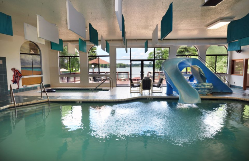 Indoor pool at Baker's Sunset Bay Resort.