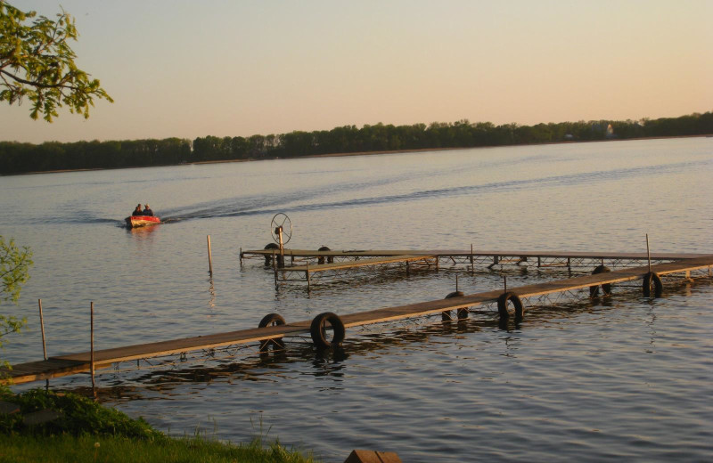 The dock at Shady Rest Resort.