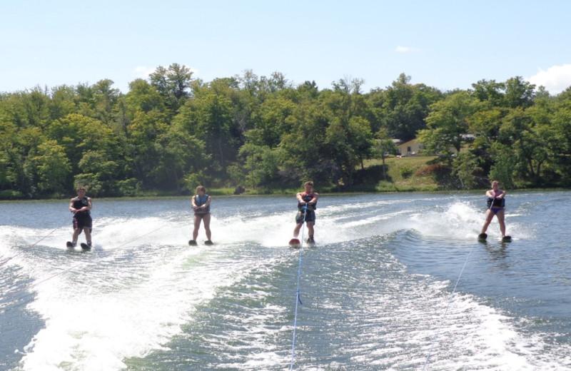 Water skiing at Northern Lights Resort.