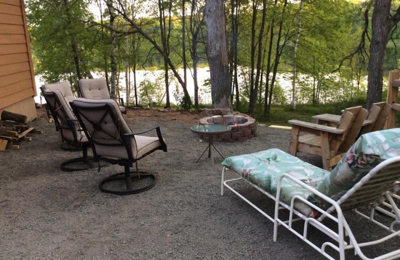 Patio at Pleasant Lake Bed & Breakfast.