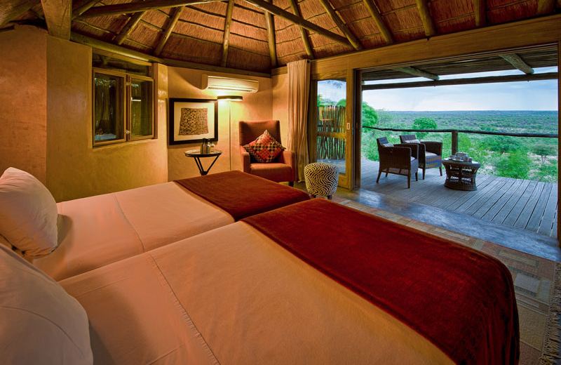 Guest room at Ongava Game Reserve.