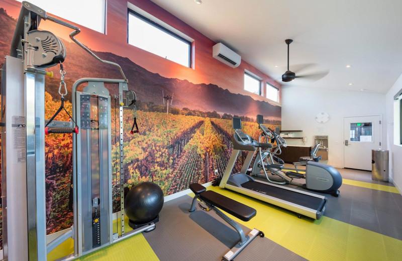 Fitness room at Best Western Plus Stevenson Manor Inn.