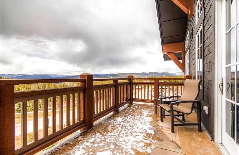 Rental deck at Breckenridge Rentals by Owner.