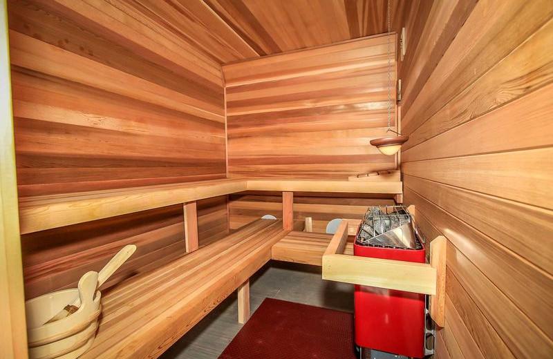 Rental sauna at Big Bear Vacations.