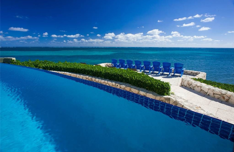 Outdoor pool at Cayman Castle.